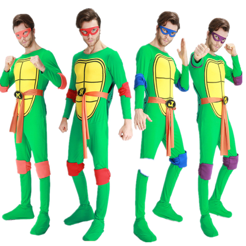 Halloween Cosplay Costume Ninja Turtles Cosplay Costume Clothing Suit Men Jumpsuits Mask Toy Shell Weapon