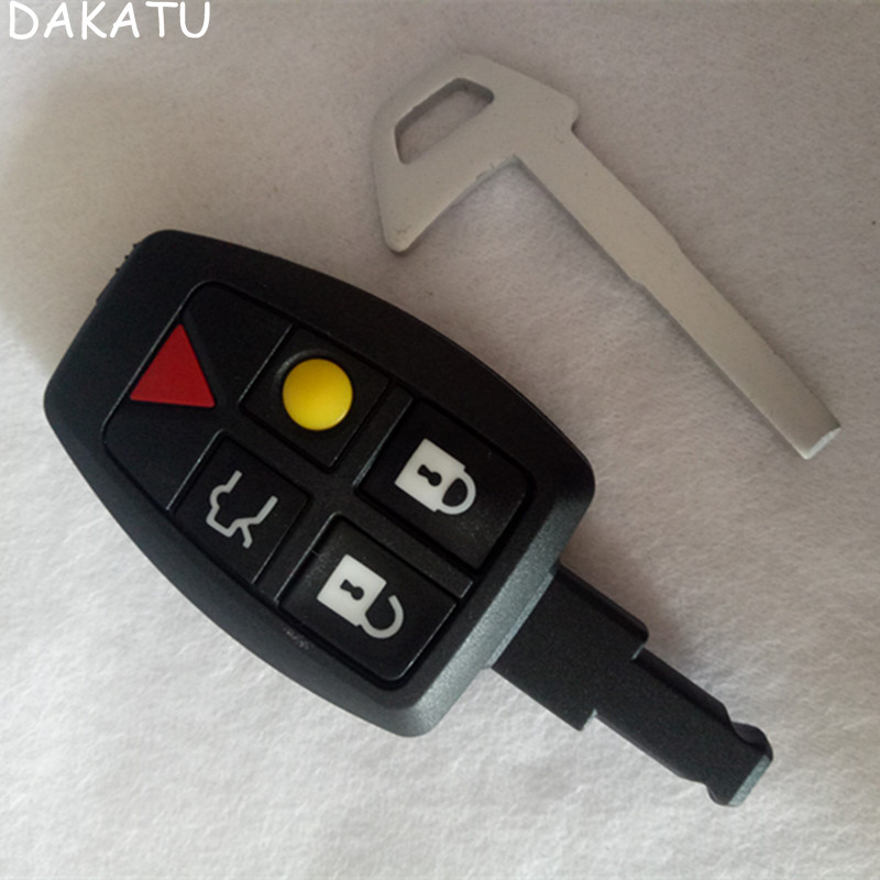 DAKATU 5 Button Remote Car <font><b>Key</b></font> Shell Case Fob 4+1 Button Smart <font><b>Key</b></font> Housing Cover for <font><b>Volvo</b></font> <font><b>S40</b></font> smart card <font><b>replacement</b></font> image