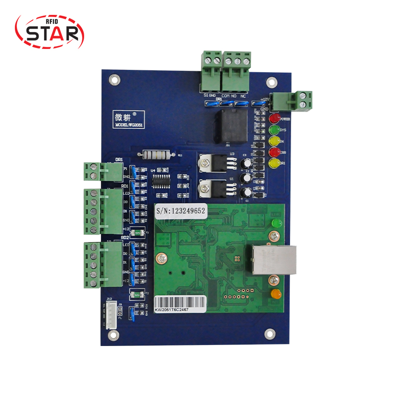 Door Security System Single Door Wiegand Tcp/ip rfid Access Control Board/panel/controller with high quality c3 100 single door high quality access control system one door two way access control panel 1 pc rfid reader 1 pc exit button