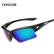 COOLSIR 2017 fashion style men's wise choice of outdoor sports  mirror anti sandstorm Polarized sunglasses 6 colors P8514