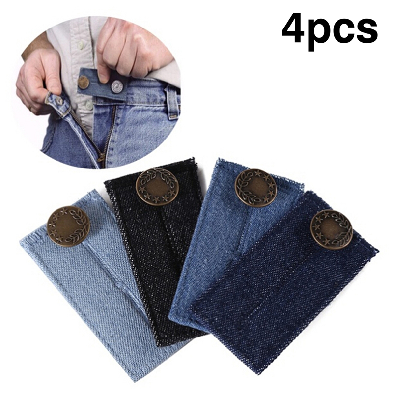 1/4Pcs Maternity Pregnancy Waistband Belt Adjustable Elastic Waist Extender With Metal Buttons Clothing Pants Accessories
