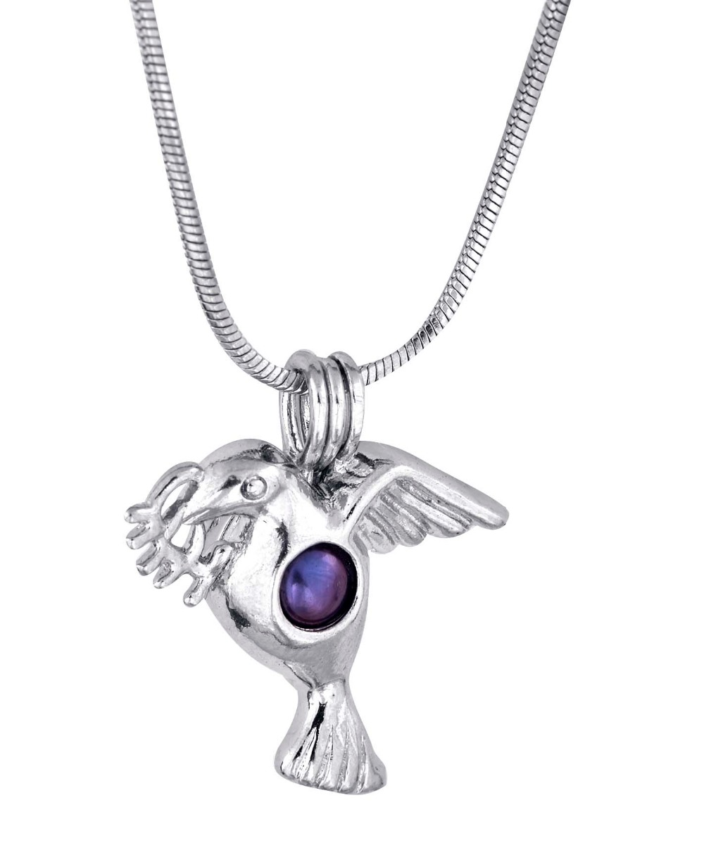 Fashion Stainless Steel Flying Bird Pendant animal Style plated Silver wish cage Pendant P34