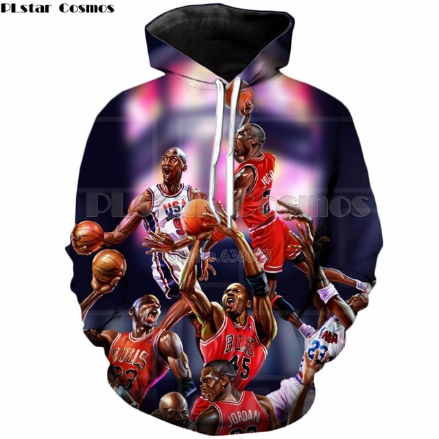 PLstar Cosmos Jordan hoodies 2018 Autumn winter New Fashion Sweatshirt  Michael Jordan print Mens Womens casual Tracksuit ZH280 10ad1b4646