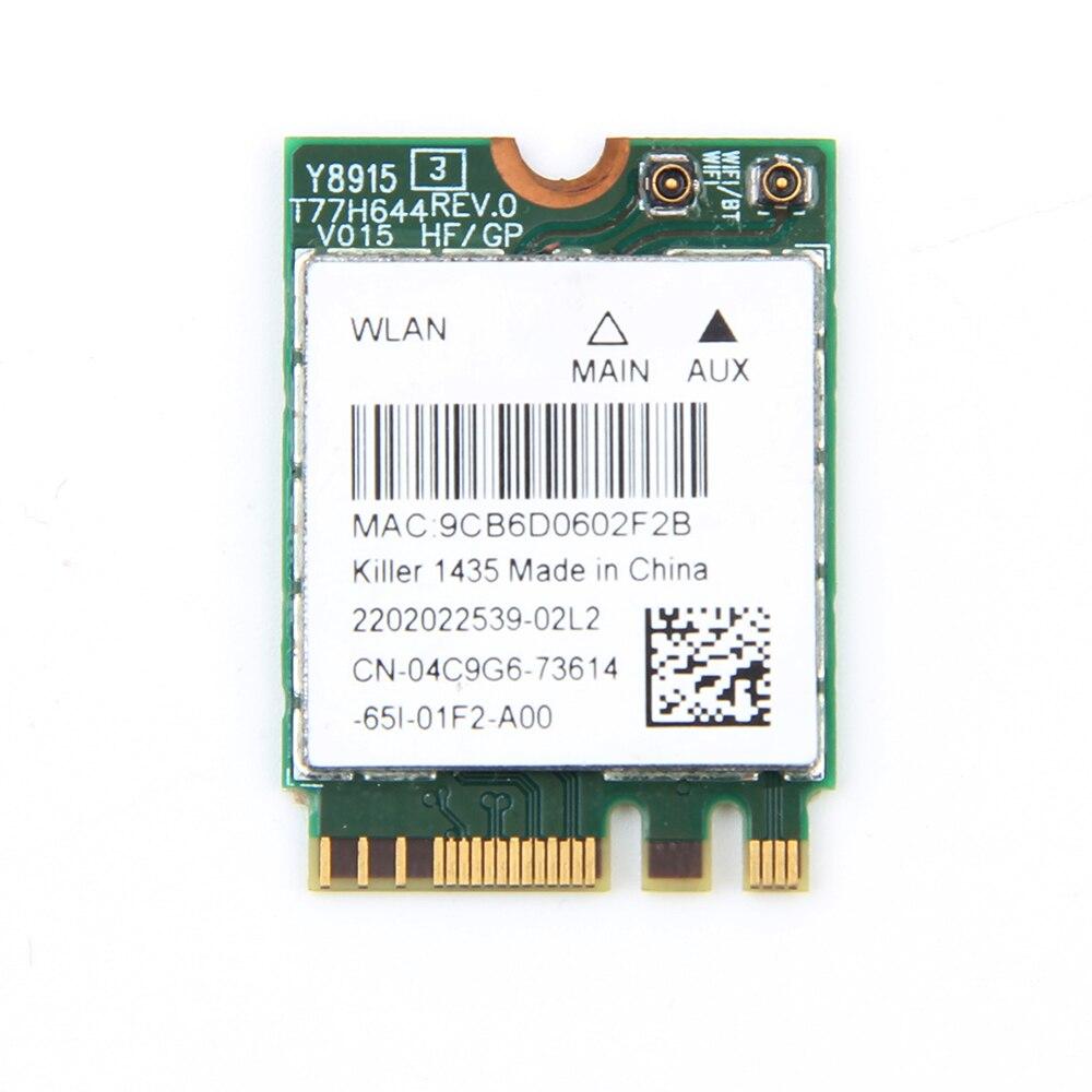 Dual Band Bigfoot Killer Wireless-AC 1435 Atheros QCNFA344A Killer 1435 802.11ac Wifi Bluetooth 4.1 M.2 Card Better BCM94352Z