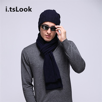 Brand Men Winter Hat Scarf Sets Luxury Women 100% Wool Scarves Boy Knitted Beanies 2 pieces set Warm Scarf Snow Caps gift BF-301