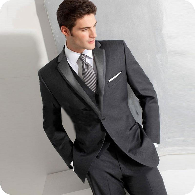 Groom Wedding Tuxedos Suits (2)