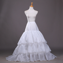 Auf Lager Zwei Hoops Drei Schichten A-Line Hochzeit Petticoats 2016 Braut Krinoline Für Abend Prom Kleider