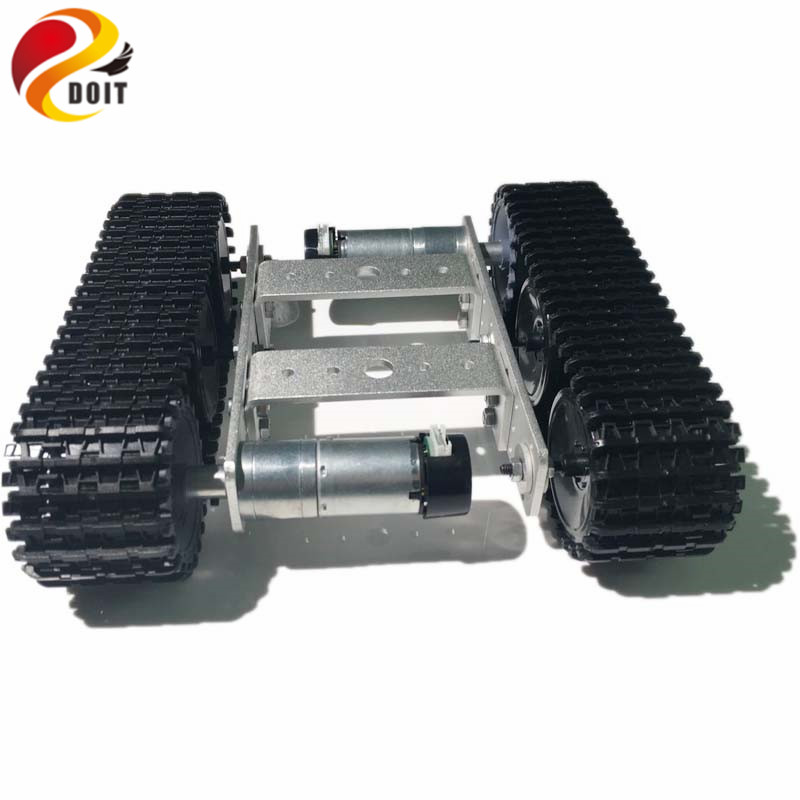 DOIT mini Robot Tank Chassis Smart Crawler Tracked Vehicle TP100 with Aluminum Alloy Frame for Robot Competition Design Arduino цена