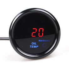 2 inch 52mm Digital Oil Temp Gauge Smoke Lens Car Auto Oil Temperature Meter with Sensor saipwell gm1361 2 5 inch screen digital temperature