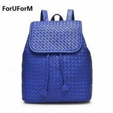Женские Натуральная кожа рюкзак ткань школьные сумки для модная одежда для девочек Корейский рюкзаки студент Bookbag Mochilas femininas LI-1392