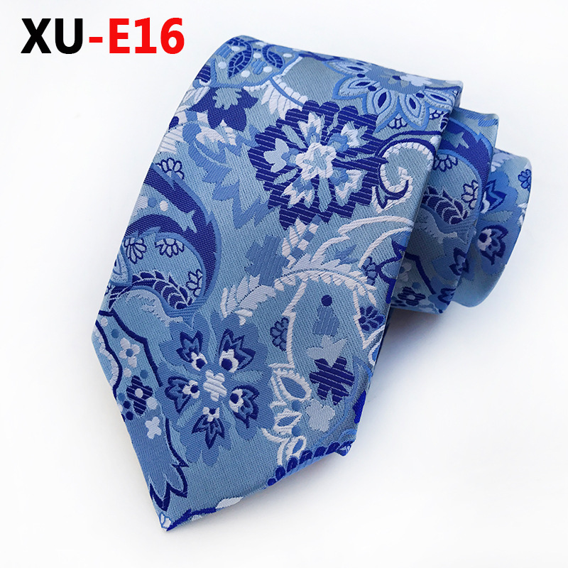Hand-crafted Tie Incredibly Complex  Paisley Blue Pattern Floral Flower Necktie Wedding Party Bride and Groom Ties
