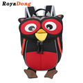RoyaDong 2017 Children School Bag Nylon Cute Owl Backpack For Girls Boys High Quality Book Bag