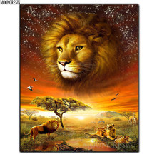 5D DIY Diamond Embroidery Lion Zebra Leopard Painting Cross Stitch Square Full Mosaic Decoration Animals Forceps