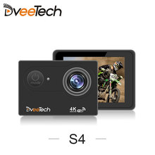 Dveetech 4k Sports Camera HD Wifi 16Mp Waterproof 30M Underwater Action Camera with Remote Control  S4R