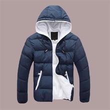 2017 Лидер продаж Модная Повседневная зимняя куртка мужские пальто удобная и Куртка высокого качества 5 цветов плюс размер XXXXL