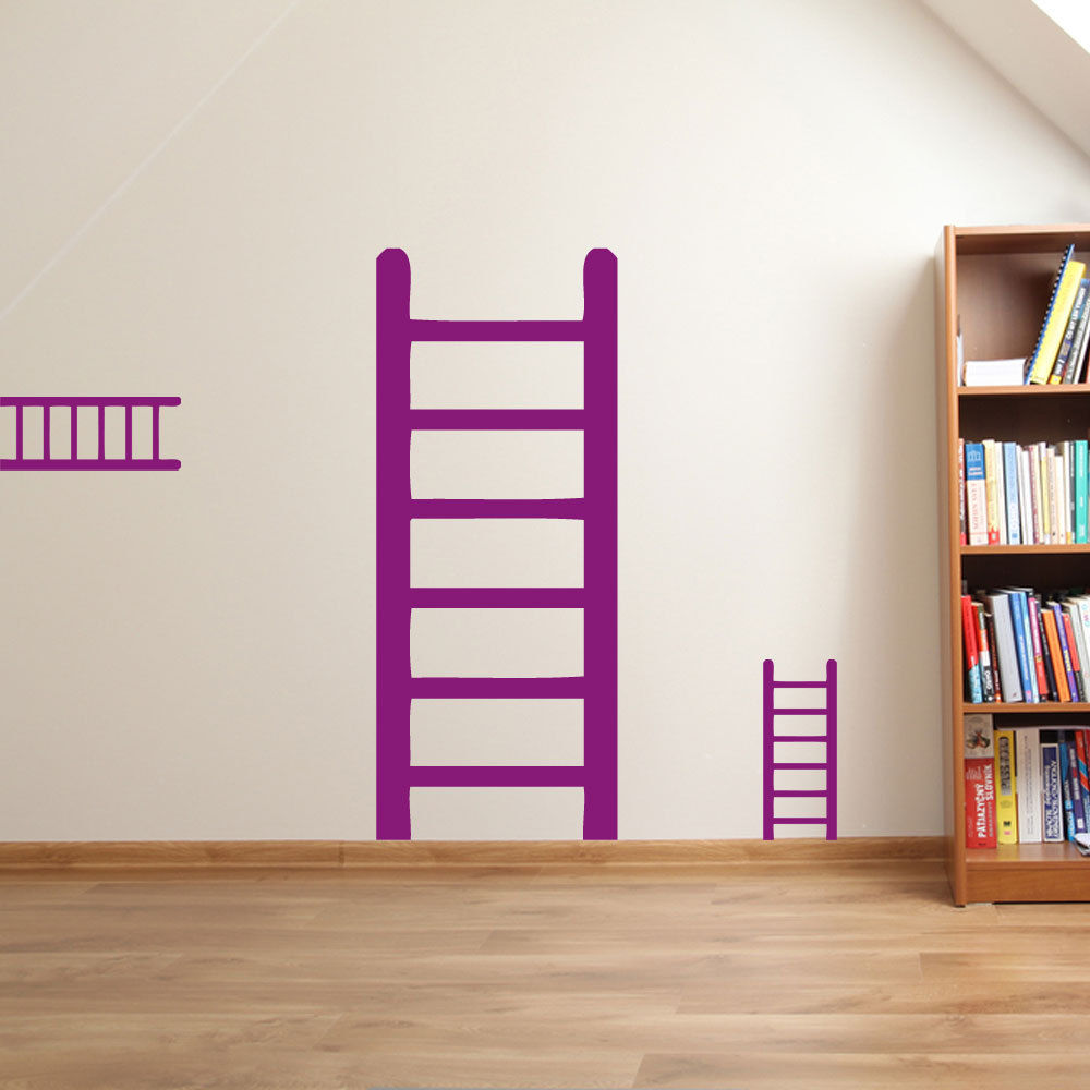 Muro adesivi adhesivos de pared 3 set ladder wall sticker for Stickers para pared