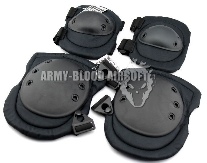MIL-FORCE Soft Denim ALTA Tactical Protective Gear (knee Pads. Elbow) (BK / CB)