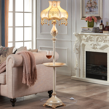 American Standing Lamp Nordic Led Floor Living Room Bedroom Stand Light Coffee Table Bedside Vertical