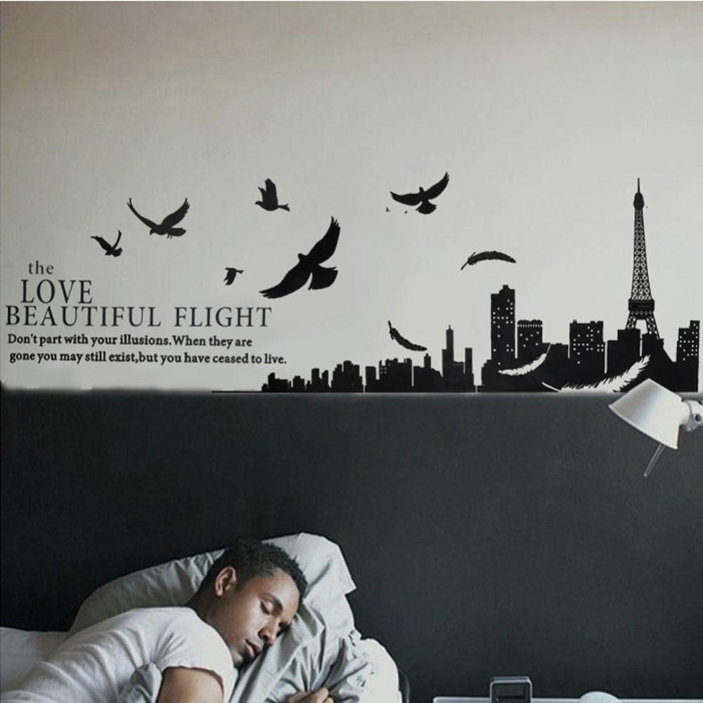 ... Eiffel Tower Design Living Room Bedroom Decor Pvc Removable. Download