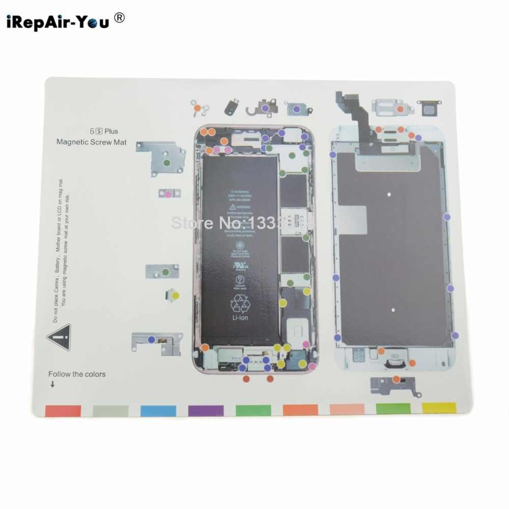 medium resolution of detail feedback questions about irepair you magnetic screw mat repair pad for iphone 7 7plus 6 6s plus 5 5s lcd screen opening tools repair work pad on