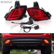 MZORANGE светодиодный DRL сзади задний бампер света для Mazda CX-5 CX5 CX 5 2013 2016 тормозной фонарь дальнего света Бег лампа автомобиль-Стайлинг