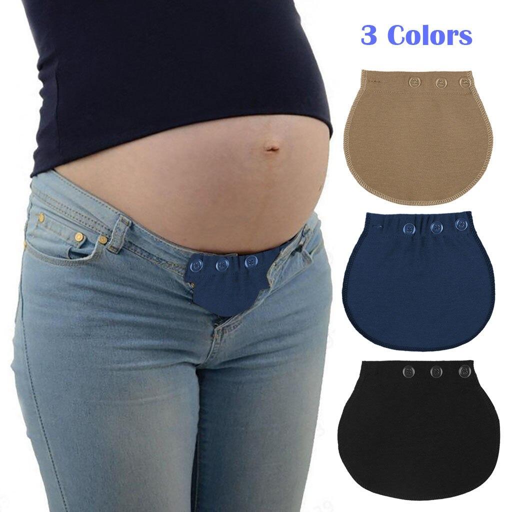 """Maternity Pregnancy Waistband Belt ADJUSTABLE Elastic Waist Extender Pants/""""/'"""