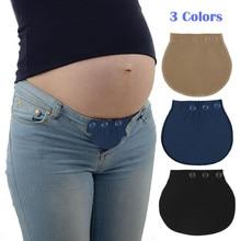2020 maternidad embarazo accesorios soporte de la cintura cinturón extensor ajustable elástico pantalones cintura cinturón de maternidad