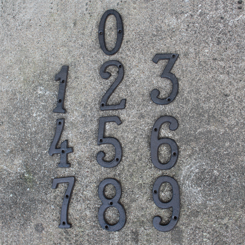 Number, Street, Antique, Home, Brown, House