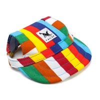 TAILUP Sun Hat For Dogs Cute Pet Casual Cotton Baseball Cap With Ear Hole Chihuahua Yorkshire