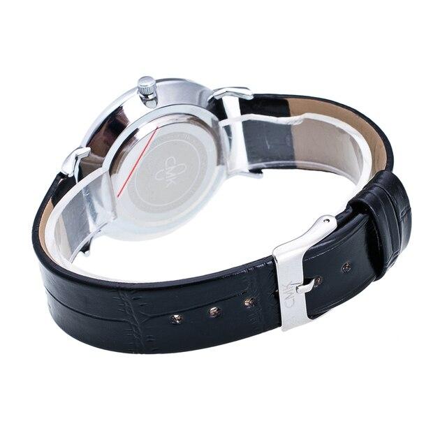Fashion Brand Men Watches Super Thin Simple Face Design Qaurtz-watch With Black Leather Band Ultraslim Mens Wrist watch Clock