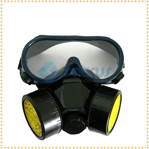 Poeira grátis frete pintura máscara respirador dupla gás protetor facial  equipamentos de segurança amador 6f44ad0b99