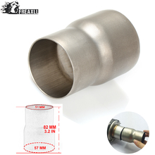 Universal 61mm-51mm Motorcycle Modified exhaust Muffler pipe Adapter Reducer Connector Pipe Tube For Suzuki YAMAHA Buell Aprilia