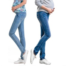 Купить с кэшбэком Elastic Waist Maternity Jeans Pants For Pregnancy Clothes For Pregnant Women Legging Autumn / Winter 2014 Maternity Plus Size