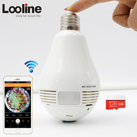 HD Wifi IP Indoor Bulb Light Camera Wireless Network Lamp Surveillance Micro Camera 960P Mini Smart