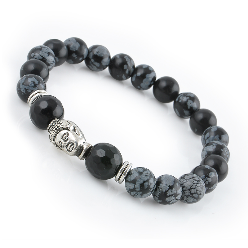 Natural Stone Buddhist Buddha Meditation Beads Bracelets For Women Statement Jewelry Prayer Beads Mala Bracelet free shipping