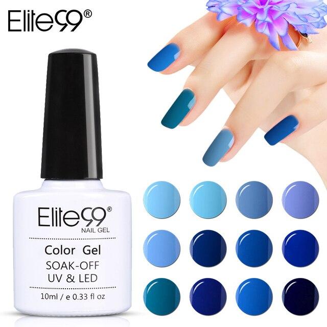 Elite99 Hot Sale 36colors Full Set Blue Gel Nail Polish Nail Art
