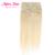 Clip en extensiones de cabello humano 613 # brasileño de la virgen recta extensión del pelo humano de remy clip en la extensión del pelo completo cabeza 7 unids