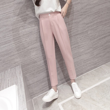 c17d74064cc0b High Waist Pink Black Harem Pants Women 2019 Summer Autumn Casual Plus Size  3xl Slim Ol