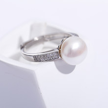 2019 Sale 925 Sterling Silver Ring Brand Design Genuine Jewelry Pearl 9-10mm Freshwater Pearl Ring(China)