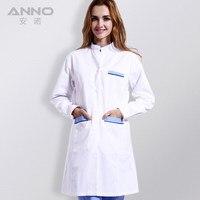 15 16 Top Female Nursing Nurse Classic White Lab Coat Long Sleeve Hospital Doctor Medical Working