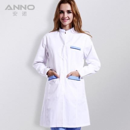 15/16 Top female nursing nurse classic white lab coat long sleeve ...