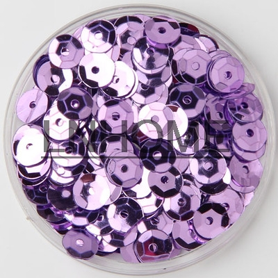 50g 5mm <font><b>Cup</b></font> <font><b>Sequins</b></font> for Craft Light <font><b>Purple</b></font> <font><b>Round</b></font> Loose <font><b>Sequins</b></font> Paillettes Children DIY Sewing Wedding DIY Accessories