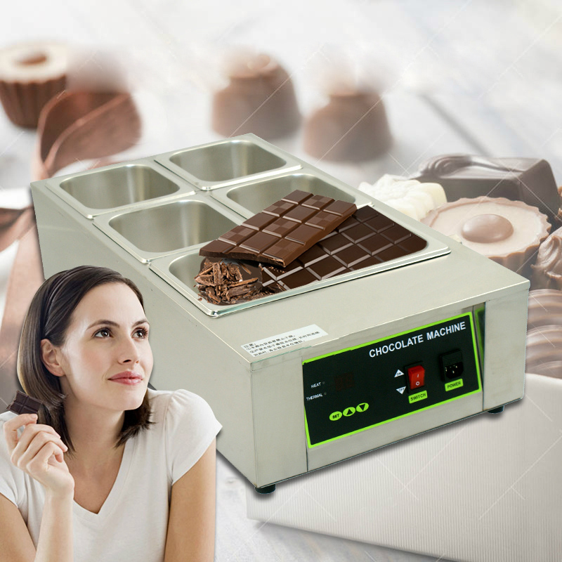 ITOP Digital Chocolate Melting Machine Stainless Steel Electric Pot With 5 Pans Commercial