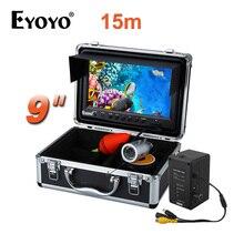 "EYOYO Original Video Fish Finder HD 1000TVL 15M Full Silver Invisible Outdoor White LED 9"" Bigger Monitor Brightness Adjustable"