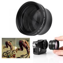 Nieuwe 2X Vergroting High Definition Converter Telelens Voor 37 Mm Mount Camera Converter
