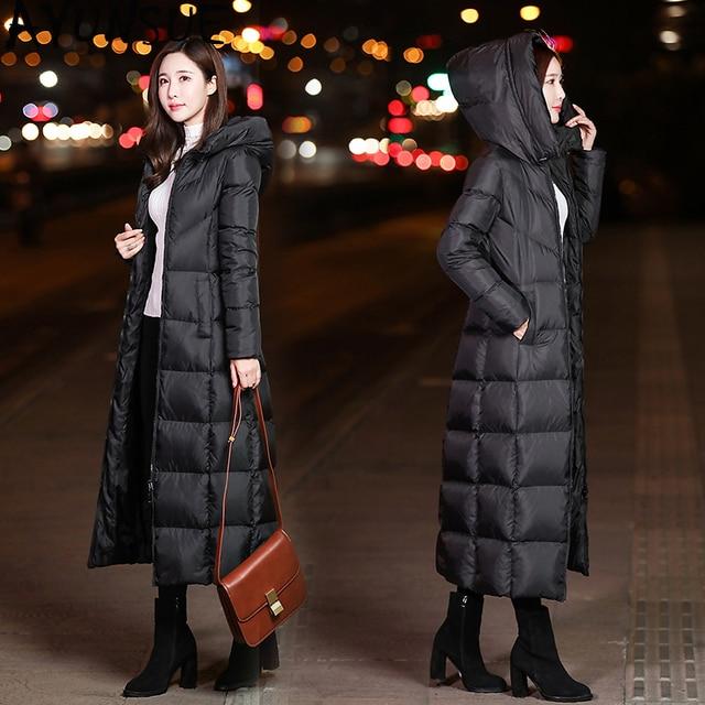 7034048e9176 AYUNSUE Women s Down Jackets X Long Korean Style Female Puffer ...