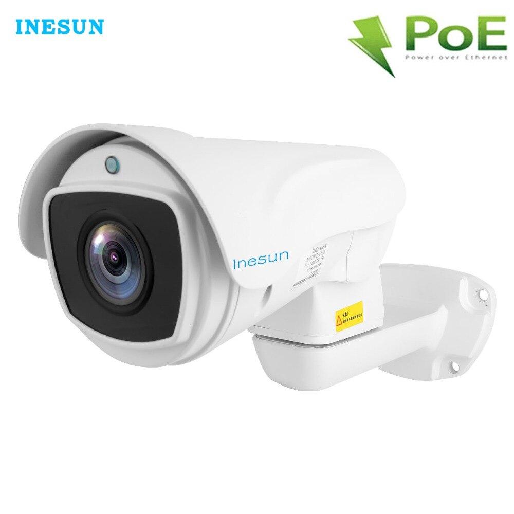 Inesun Outdoor PTZ PoE IP Security Camera 2MP/4MP Super HD 2688*1520 Pan/Tilt 10X Zoom Waterproof 100m Laser IR Night Vision игровой набор sylvanian families детская комната розовая с белым
