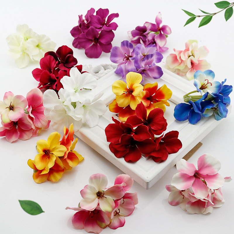 1 pcs silk Artificial flowers home decorative hydrangea flower heads simulation for wedding decoration DIY headdress Fake flower