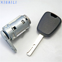 XIEAILI OEM Lewy Drzwi zamek cylindryczny Auto Cylinder Zamka Drzwi Dla Peugeot 307 Bez Rowka Tarczy M371