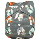 Baby Diapers Couches Lavables Adjustable Reusable Nappies Fralda Patterns Printed Waterproof Newborn Diaper Cover Cloth Diaper